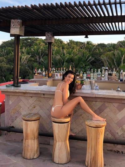 Kourtney Kardashian in a Thong