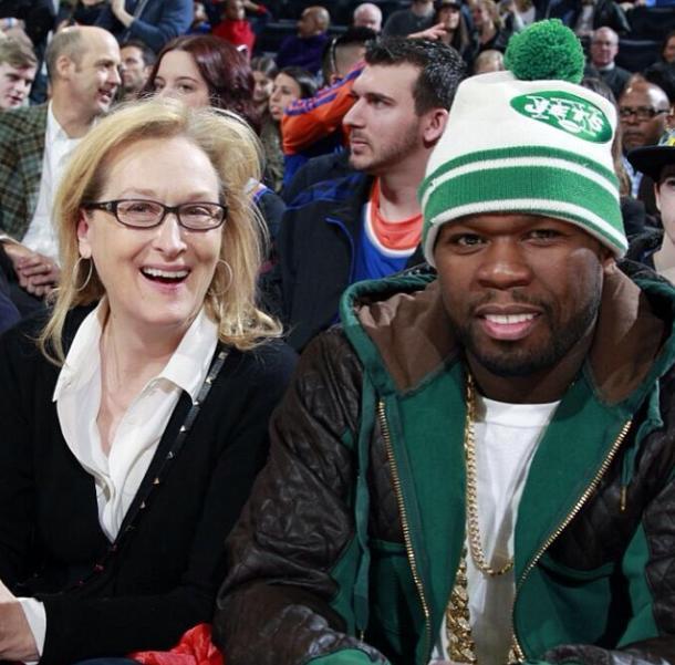 Meryl Streep and 50 Cent