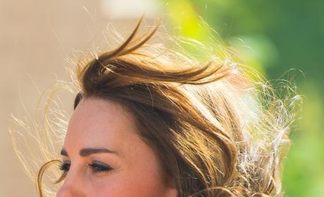 Kate Middleton's Hair Gets Swept Away in New Delhi