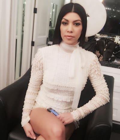 Kourtney Kardashian Keeps It Secret