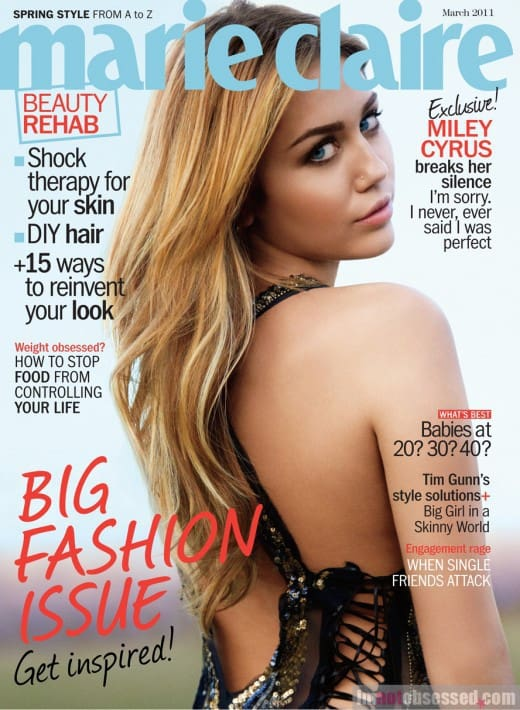 Miley Cyrus for Marie Claire