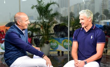 Ryan Lochte with Matt Lauer