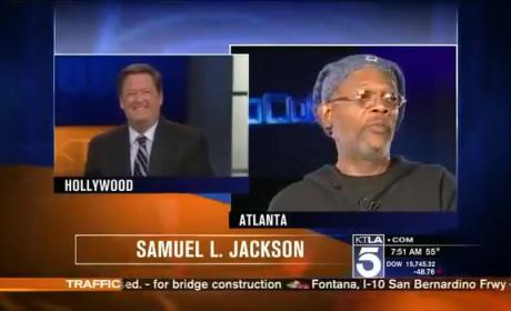 Samuel L. Jackson BLASTS Moronic Reporter