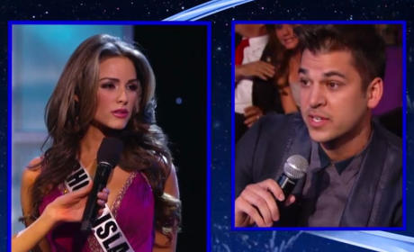Rob Kardashian Poses Transgender Question at Miss USA Pageant