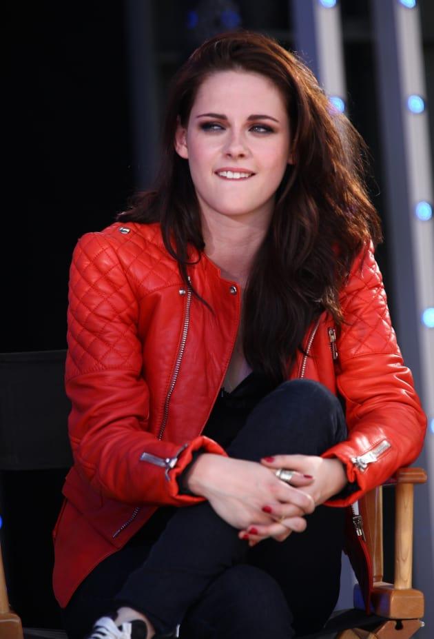 Kristen Stewart at a Press Conference
