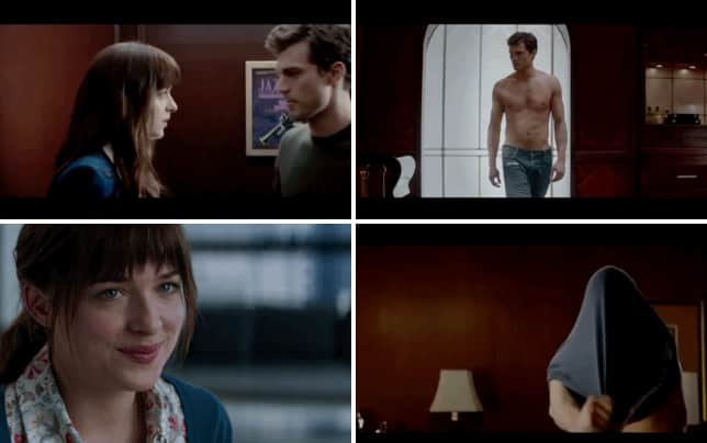 Christian grey anastasia steele kissing