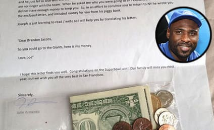 "Joseph Armento, Young Giants Fan, Sends Piggybank Savings to ""Help"" Brandon Jacobs"