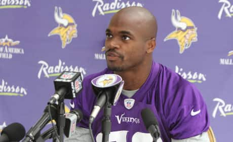 Adrian Peterson at the Mic