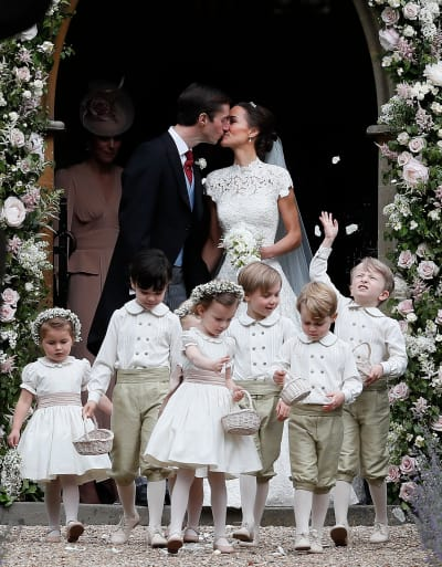 Pippa Middleton James Matthews Wedding Kiss