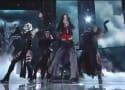 "Katy Perry Grammy Awards Performance: Juicy J Joins Fiery ""Dark Horse"" Rendition"