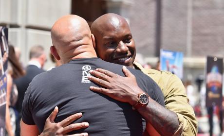 Tyrese Gibson Hugs Vin Diesel