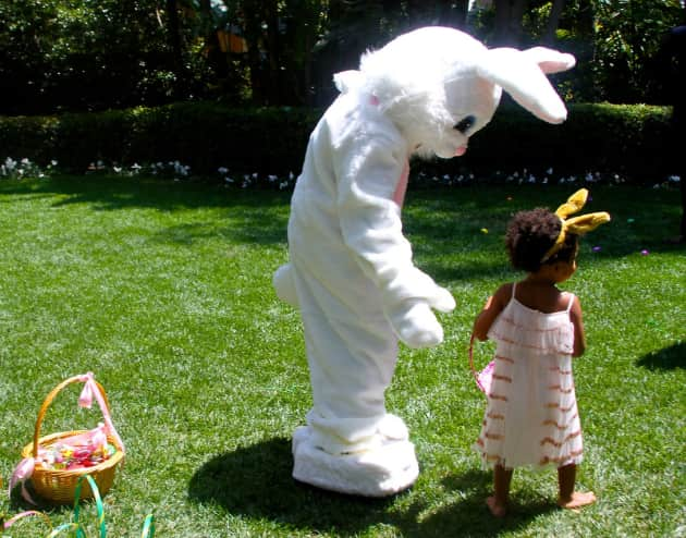 Blue Ivy Carter and the Easter Bunny