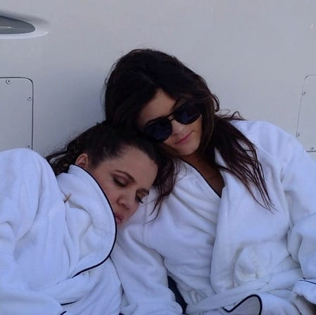Khloe and Kylie