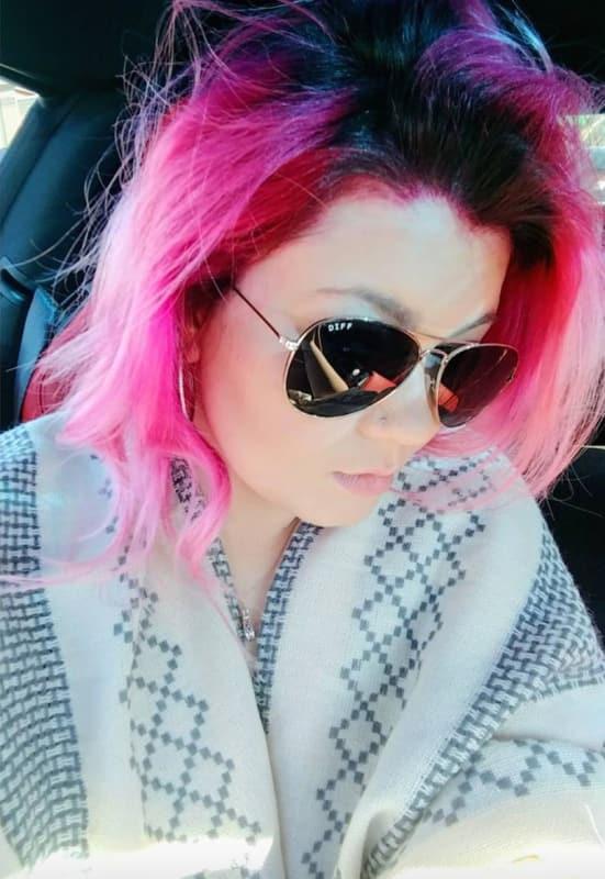 Amber portwood pink hair pic