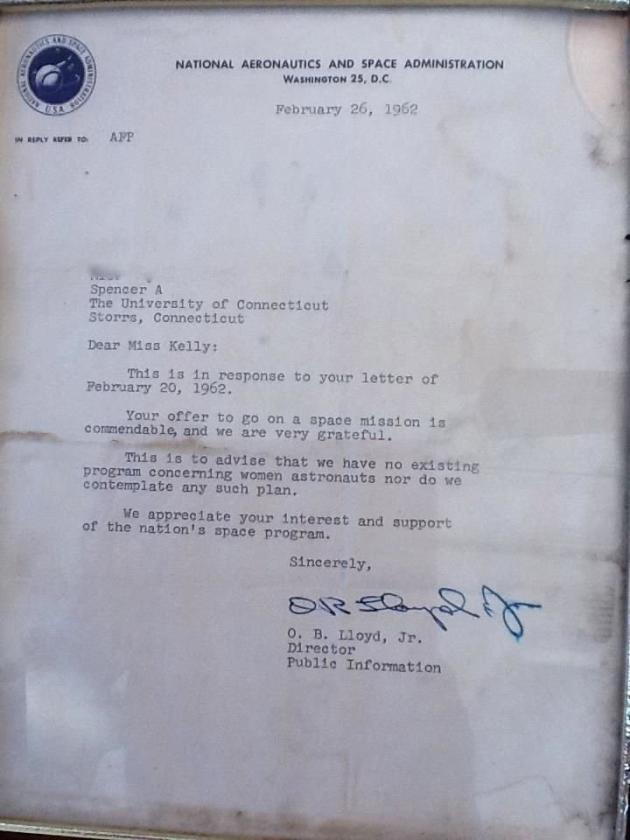 NASA Rejection Letter