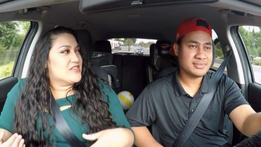 Kalani Faagata and Asuelu Pulaa have fun in the car (sex shop)