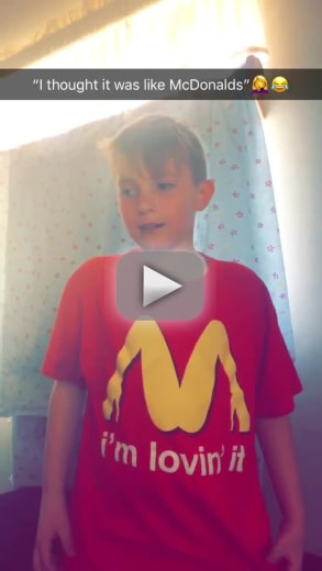 Mother apologizes after her young son wears lewd mcdonalds parod