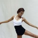 Miranda Kerr Stretches
