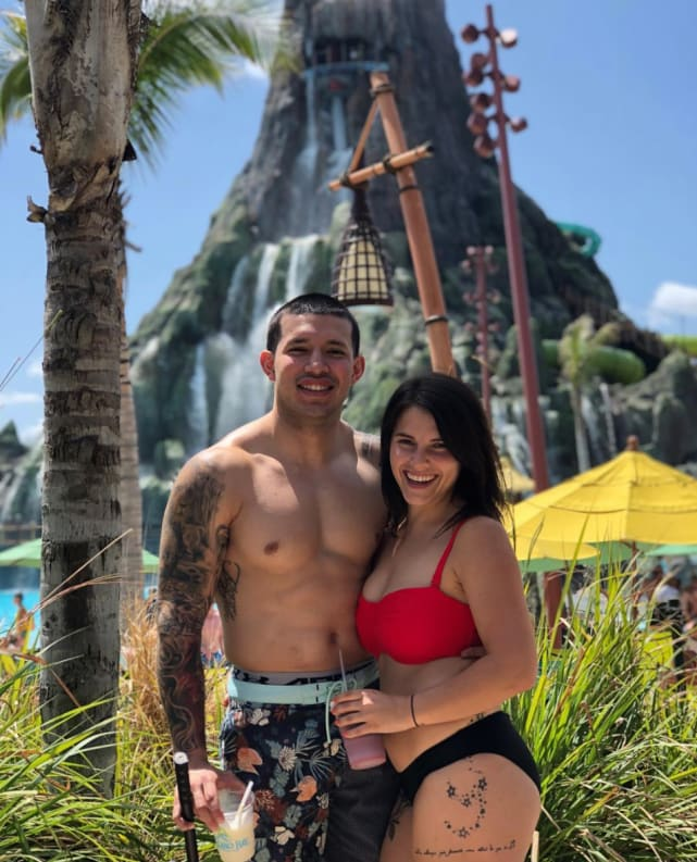 Javi and lauren comeau in swimsuits