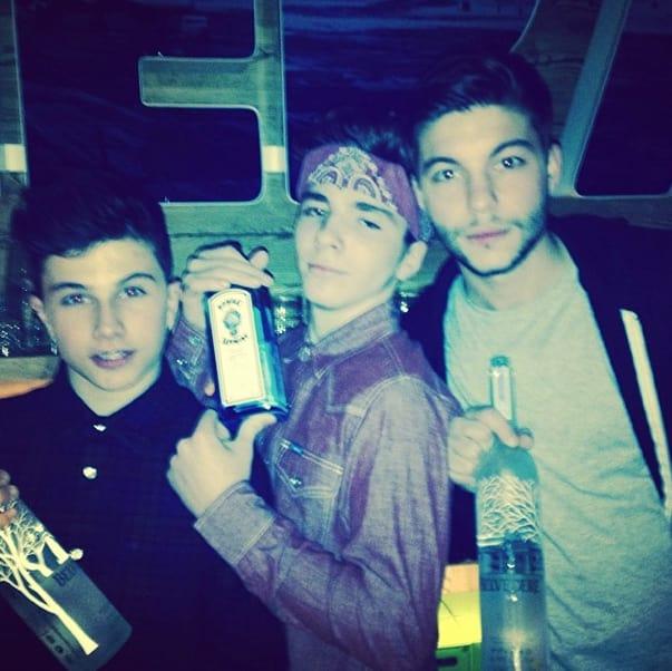 Madonna's Son with Liquor