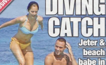 Derek Jeter Splashes Around with Minka Kelly