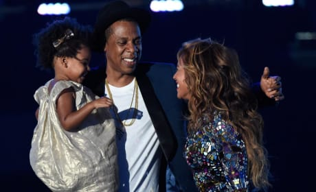 Jay, Beyonce and Blue Ivy