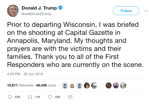 djt shooting tweet