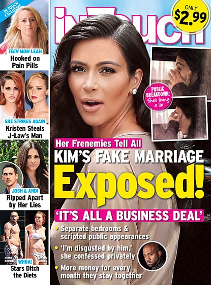 Kim Kardashian And Kanye West: Their Fake Marriage