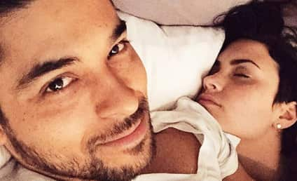 "Wilmer Valderrama Snaps Selfie of Sleeping ""Angel"" Demi Lovato"