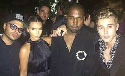 Justin Bieber and Kim Kardashian Party Together; Douchepocalypse is Nigh!