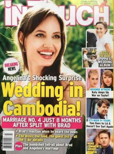 Angelina Jolie: Wedding on Tap?