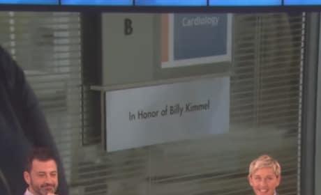 Ellen DeGeneres Gifts Jimmy Kimmel a Hospital Room in His Son's Honor