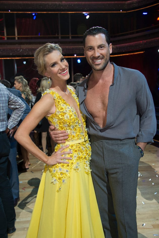 Heather Morris and Maksim Chmerkovskiy Photo
