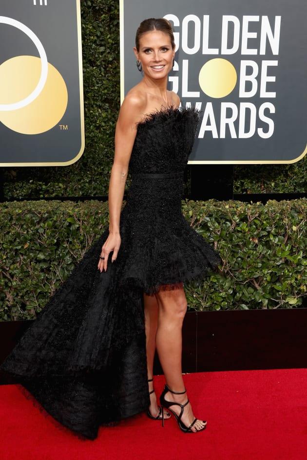 Heidi Klum at the Globes