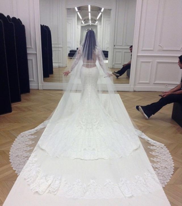 Kim Kardashian Wedding Dress Photo