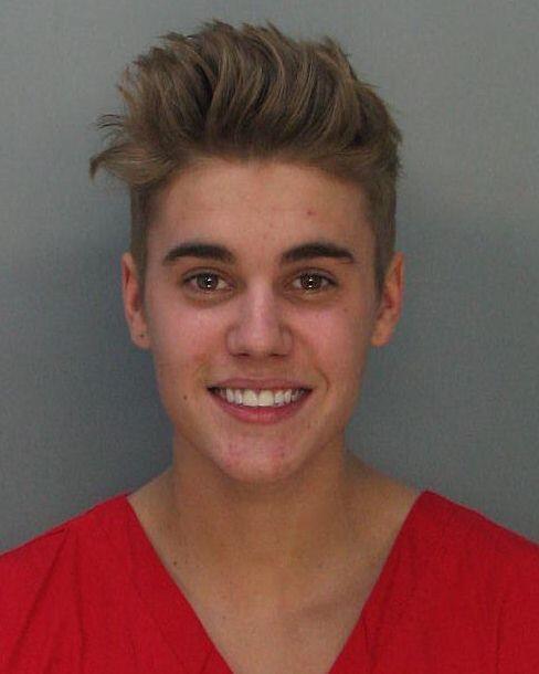 Justin Bieber Mug Shot