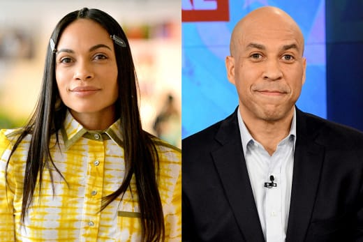 Cory Booker Rosario Dawson We Re Dating And In Love The