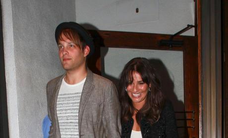Lea Michele and Theo Stockman