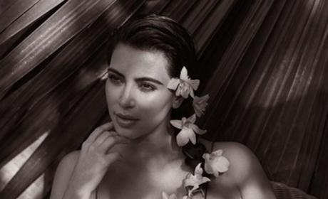 Kim Kardashian in Thought