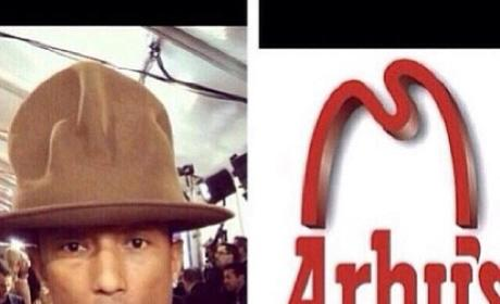 Pharrell Hat and Arby's Hat