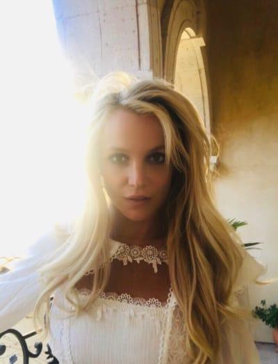 Britney Spears Framed With Light