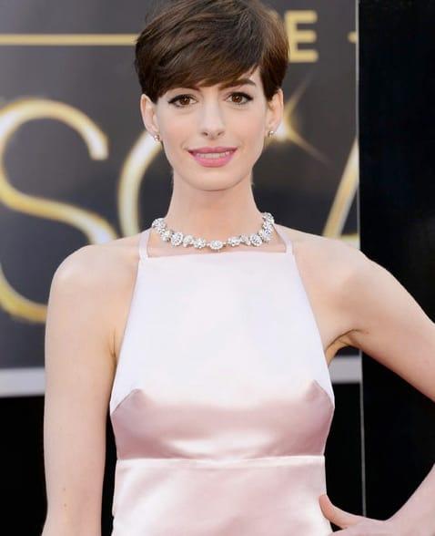 Anne Hathaway Oscar Dress