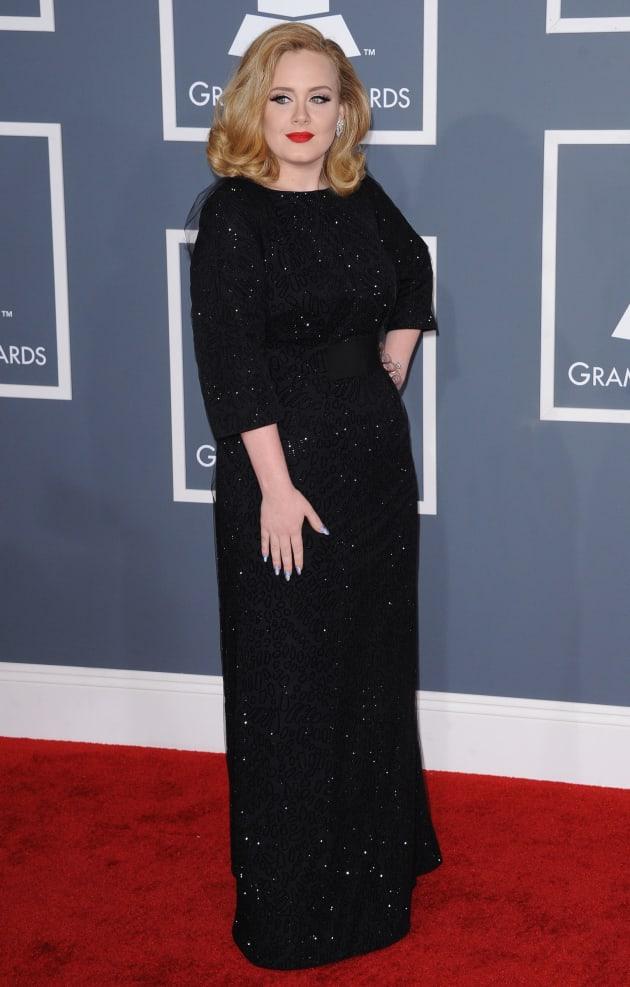 Adele at the Grammy Awards