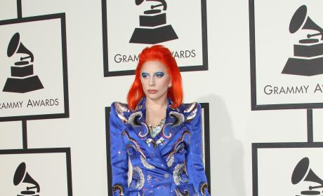 Lady Gaga at the 2016 Grammys