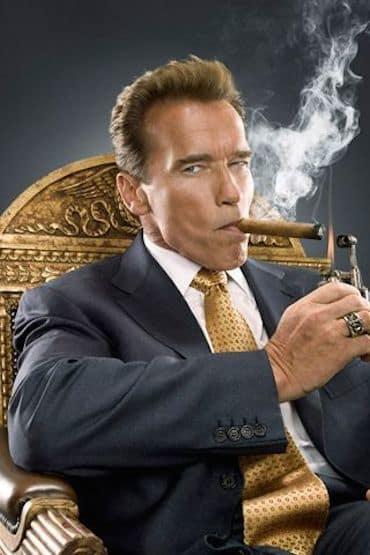 Arnold Schwarzenegger with a Cigar