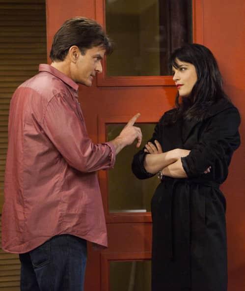 Selma Blair and Charlie Sheen