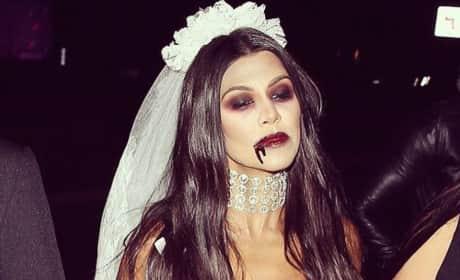 Kourtney Kardashian as a Vampire Bride