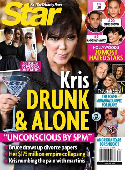 Kris Jenner: Drunk and Alone?