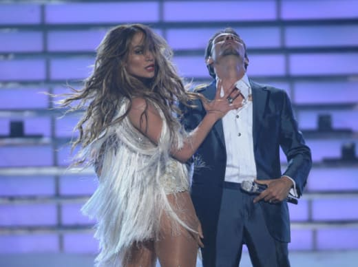 Jennifer Lopez on Idol Stage