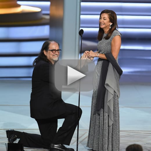 Glenn weiss wins emmy proposes on stage